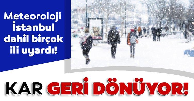 Son dakika haberi: Meteoroloji'den hava durumu ve kar yağışı uyarısı! İstanbul ve birçok ilimize kar yağışı geri dönüş yapıyor!