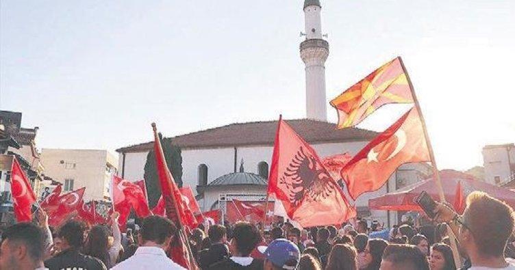 Makedonya'dan Mehmetçiğe mesaj yağdı