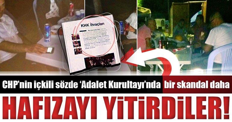 CHP'nin içkili kurultayında bir skandal daha!
