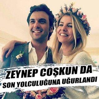 Mina Başaran ile beraber hayatını kaybeden Zeynep Coşkun da son yolculuğuna uğurlandı