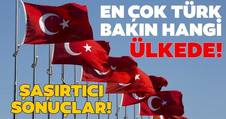 En fazla Türk'ün olduğu ülkeler!