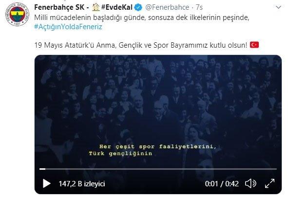 Süper Lig kulüpleri 19 Mayıs'ı unutmadı!