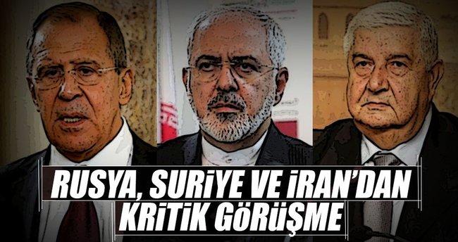 Rusya, Suriye ve İran'dan kritik görüşme!