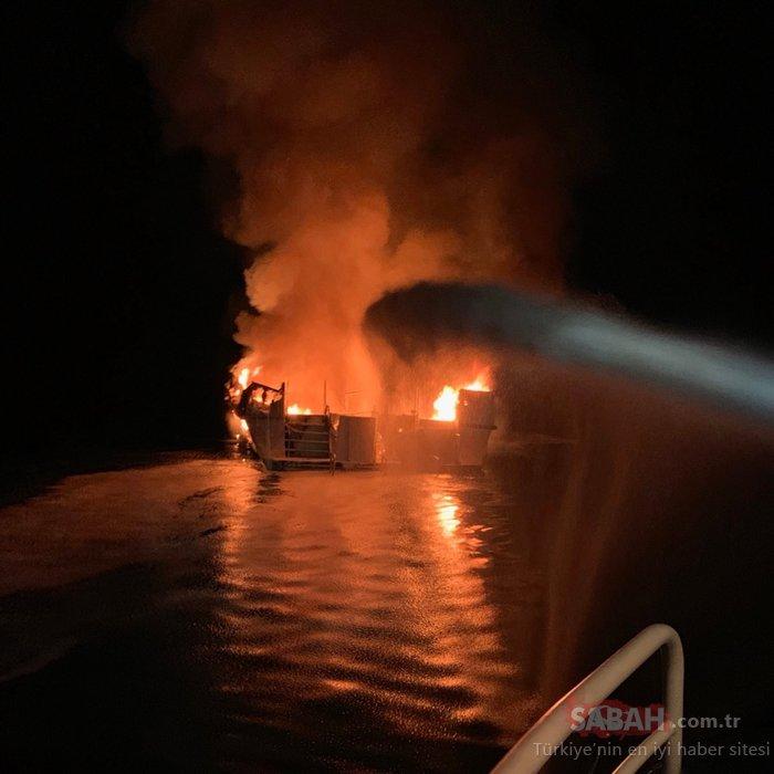ABD'deki tekne yangınında kaybolanlardan kurtulan olmadı