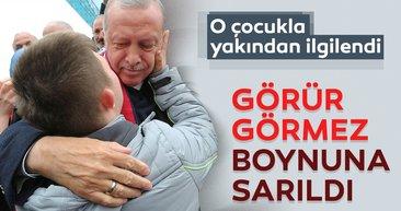 Başkan Erdoğan'a Düzce'de sevgi seli