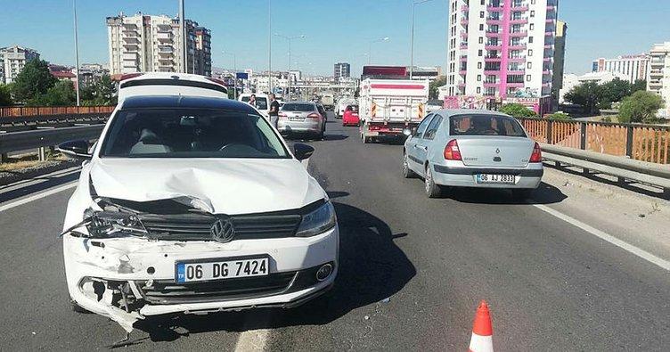 6 araç birbirine girdi, bir tek kişi bile yaralanmadı