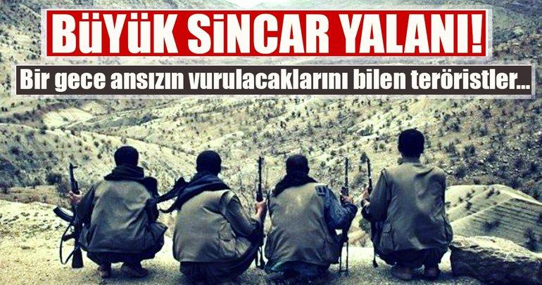 """Son Dakika Haberi: Terör örgütü PKK'dan """"Sincar'dan çekildik"""" yalanı"""