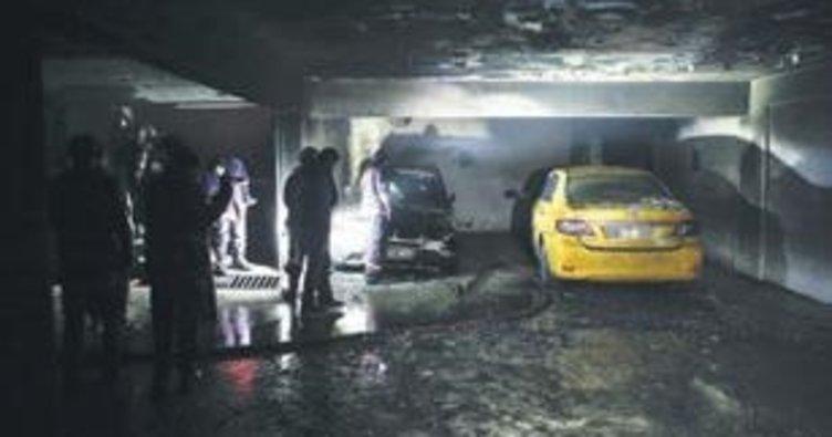 Otopark'ta yangın dehşeti yaşandı