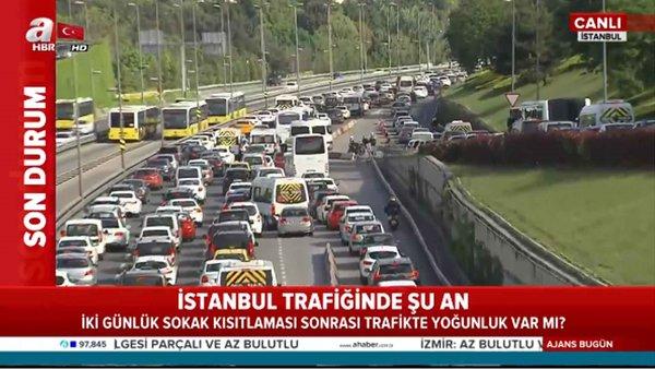 İstanbul'da yasağın bittiği ilk gün trafikte son durum