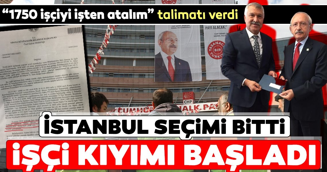 İstanbul seçimi bitti işçi kıyımına başladı