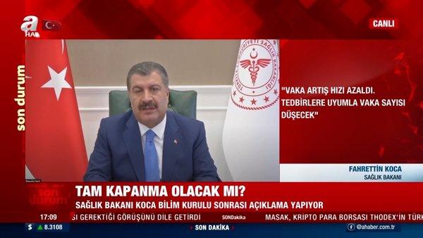 SON DAKİKA: Tam kapanma olacak mı? Sağlık Bakanı Koca'dan canlı yayında flaş açıklamalar!