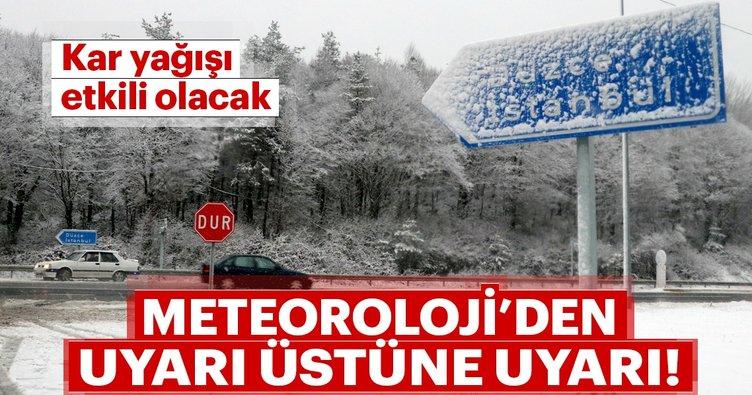 Meteoroloji'den son dakika kritik İstanbul hava durumu uyarısı! Kar ne zaman yağacak?