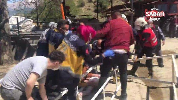 Oyun oynarken üzerine demir askılık düştü: Kanca kafasına saplandı | Video