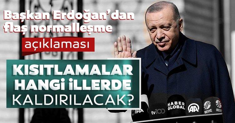 Başkan Erdoğan'dan son dakika açıklaması: Kafeler, restoranlar ve lokantalar ne zaman açılacak?