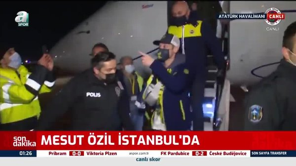 SON DAKİKA! Mesut Özil Fenerbahçe için İstanbul'da! İşte yıldız ismin ilk görüntüleri ve sözleri...