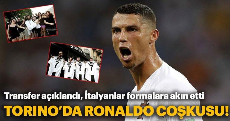 Juventus'un Cristiano Ronaldo transferinin ardından Torino'da Ronaldo coşkusu
