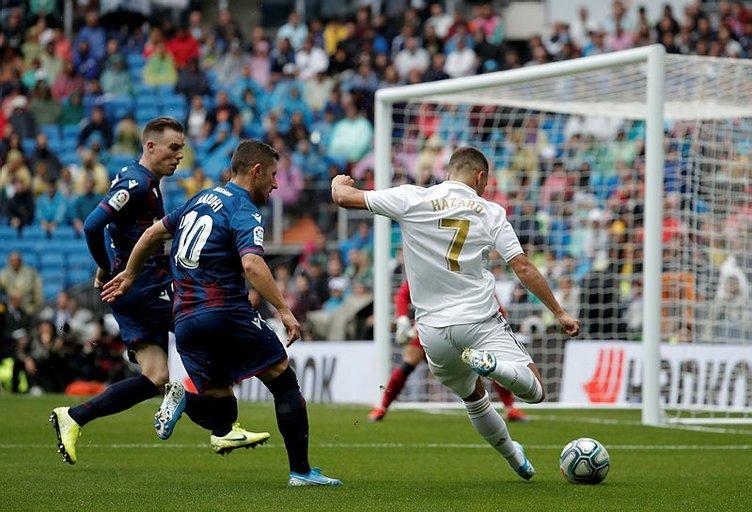 Galatasaray'ın rakibi Real Madrid, Levante'yi zor da olsa yendi