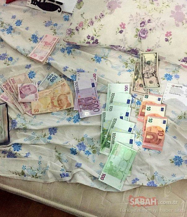 Antalya'da FETÖ'cülerin yataklarının üzerinde...