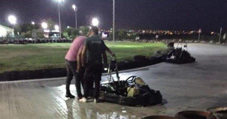 Son dakika haber: Saçları go-kart lastiğine takılan kadın ameliyata alındı!