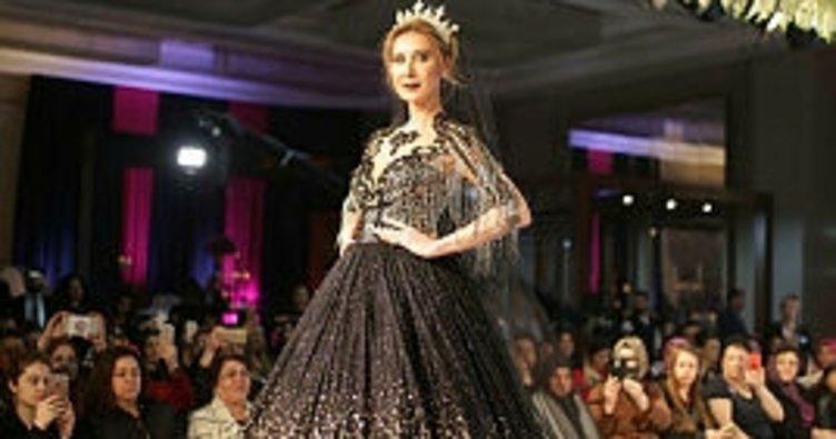 İzmirli modacının siyah gelinlikleri ilgi çekti