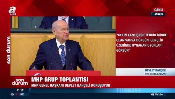 MHP Lideri Bahçeli'den MHP Grup Toplantısı'nda önemli açıklamalar | Video