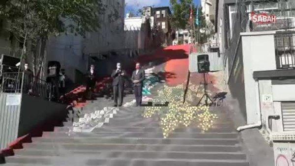 Beyoğlu'nda merdivenler sanatla buluştu | Video