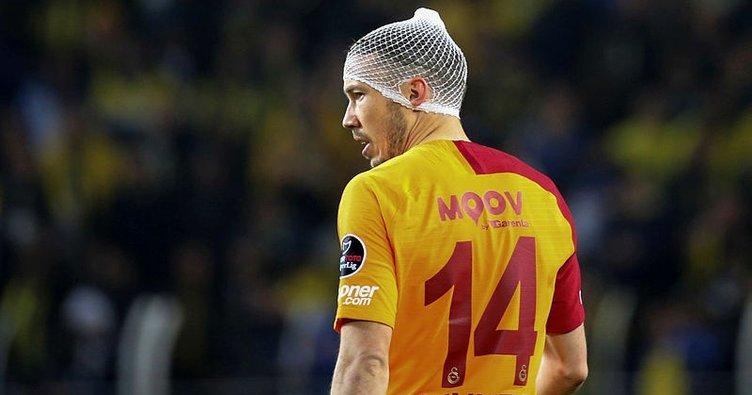 Galatasaray Kayserispor maçında Martin Linnes'in dalya heyecanı