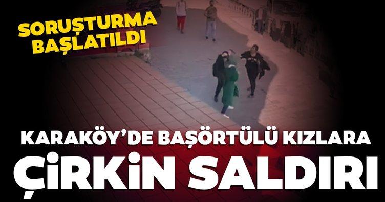 Son dakika: Karaköy'de başörtülü kıza çirkin saldırı