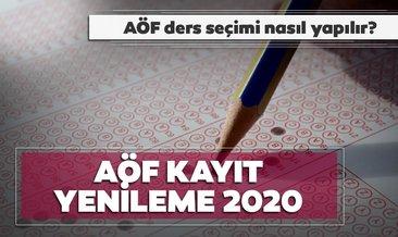 AÖF kayıt yenileme ne zaman, hangi tarihte yapılacak? 2020 Anadolu Üniversitesi AÖF kayıt yenileme ücreti ne kadar?