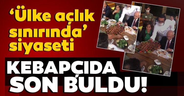 'Ülke açlık sınırında' siyaseti kebapçıda son buldu!