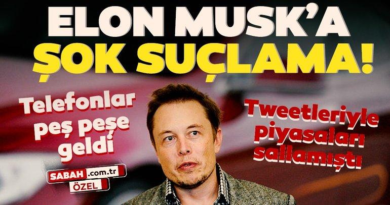 Elon Musk'a şok suçlama! Tweetleriyle piyasaları sallamıştı...