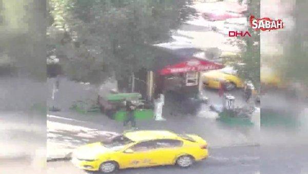 Esenyurt'ta taksi durağında silahlı kavga anı kamerada   Video