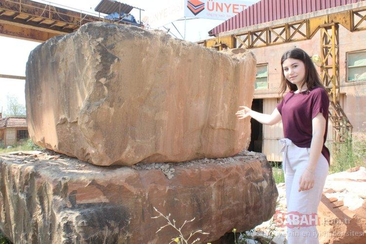 Ünyeli öğrenciden enteresan tespit: O taş 1100 dereceye kadar dayanıyor