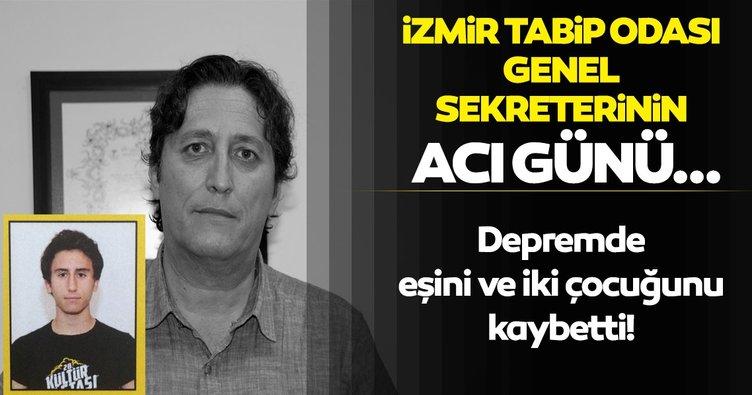 İzmir Tabip Odası Genel Sekreteri'nin acı günü: 2 çocuğu ve eşini depremde kaybetti