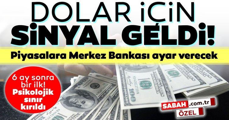 Son dakika haberi: Dolar için sinyal geldi! Piyasalara Merkez Bankası ayar verecek