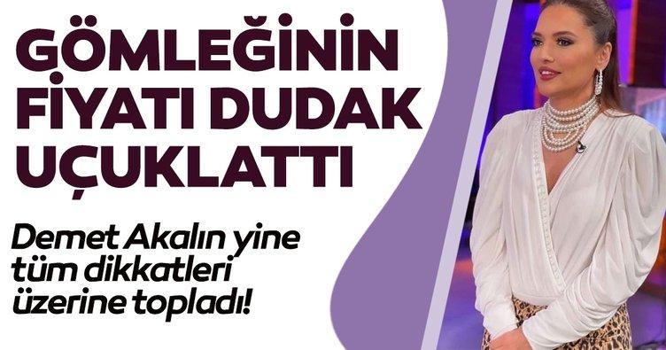 Ünlü şarkıcı Demet Akalın giydiği gömlekle dikkat çekti! Fiyatı dudak uçuklattı