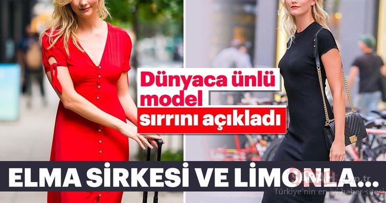 Dünyaca ünlü güzel model Karlie Kloss sırrını açıkladı! Elma sirkesi ve limonla...