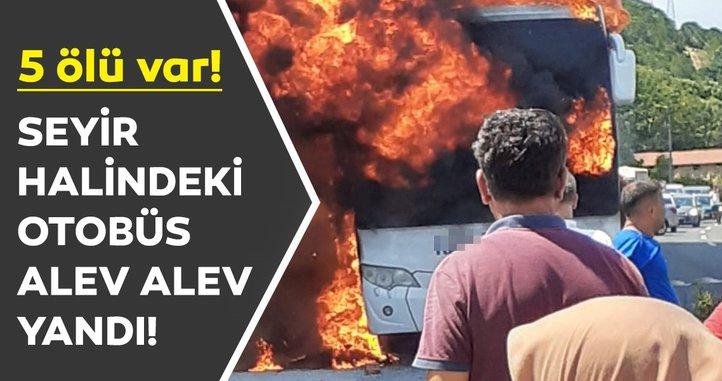 Son dakika: Balıkesir'de yolcu otobüsünde yangın çıktı: Ölü ve yarılar var