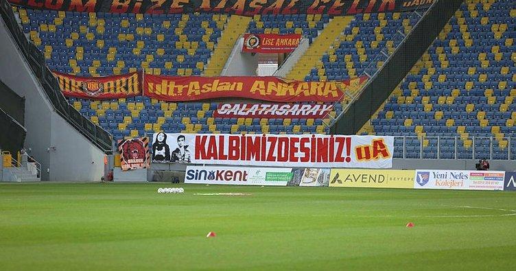 Galatasaray taraftarı vefat eden Ankaragücü taraftarları Eren ve Mert'i unutmadı