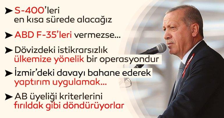 Başkan Erdoğan: Türkiye'nin S-400'lere ihtiyacı var en kısa sürede alacağız
