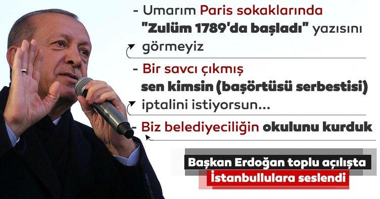 Başkan Erdoğan, Üsküdar'da toplu açılış töreninde konuştu