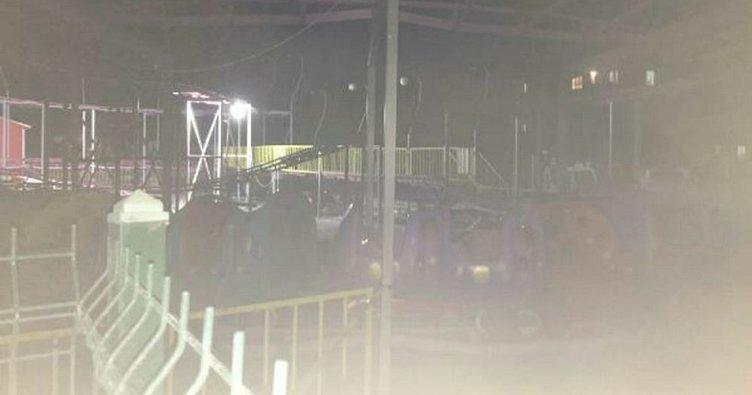 Lunaparkta oyun treni devrildi: 1 ölü, 3 yaralı