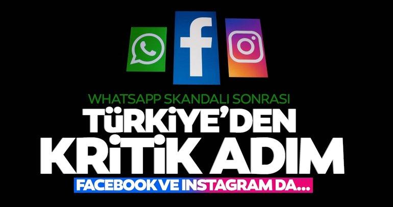 Son dakika haberi: Whatsapp skandalı sonrasında Türkiye'den Instagram ve Facebook adımı