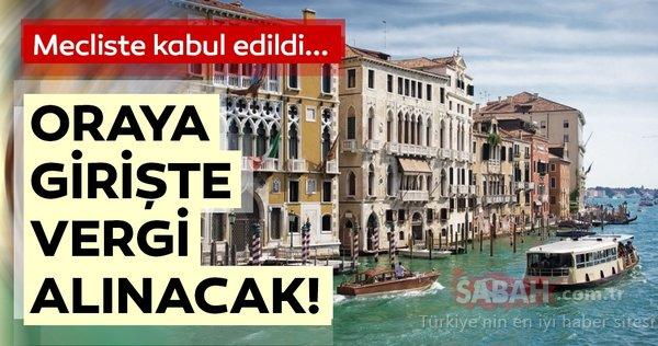 Mecliste kabul edildi: Turistlerden vergi alınacak