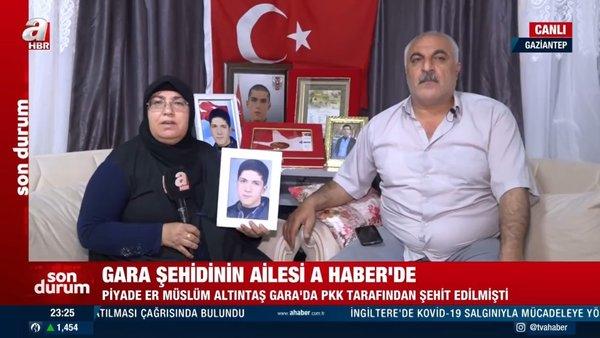 Sofi Nurettin'in haberi Gara şehidinin ailesine 'hediye' oldu! Çocuklarının doğum günüydü | Video