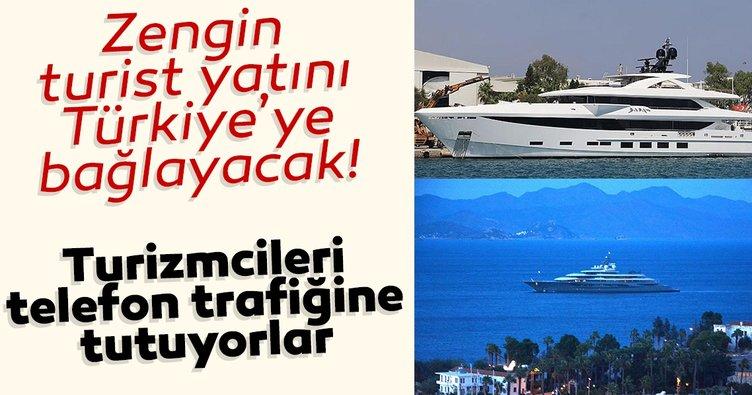 Zengin turist yatını Türkiye'ye bağlayacak