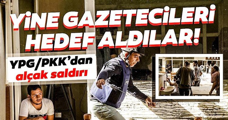 Son Dakika Haberi: Terör örgütü YPG/PKK yine gazetecileri hedef aldı! Koordinatları verdiler...