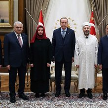 Cumhurbaşkanı Erdoğan Diyanet İşleri Başkanı Erbaş'ı kabul etti