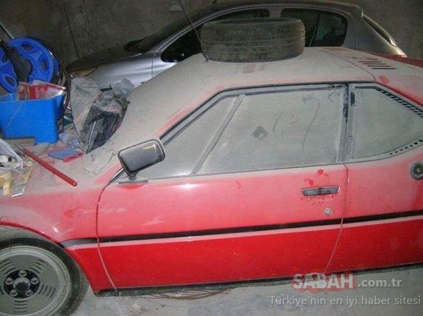 BMW araba garajda unutuldu! 37 sene boyunca garajda kilitli kaldı! Bu BMW'den sadece 453 adet üretilmişti