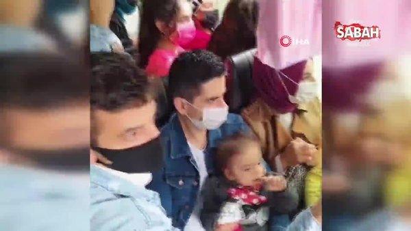 Arnavutköy'de minibüste şoke eden görüntü | Video